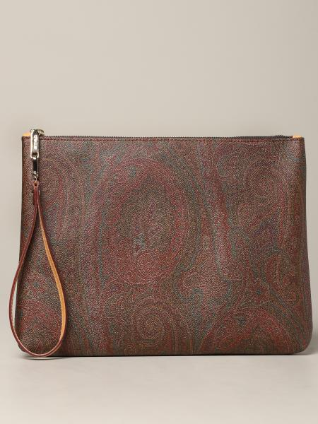 Pochette Etro in pelle stampa paisley