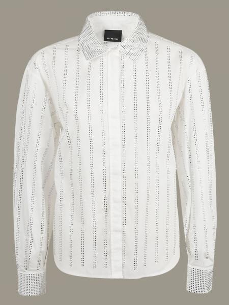 Camicia Pinko a righe di strass