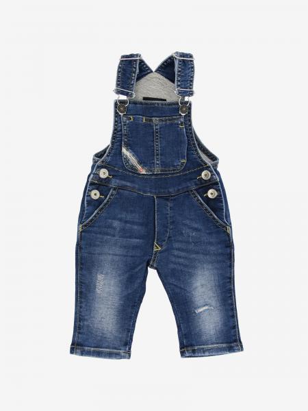 Salopette di jeans Diesel con rotture