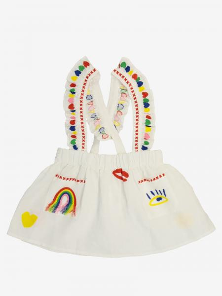 Stella McCartney skirt with embroidery and suspenders