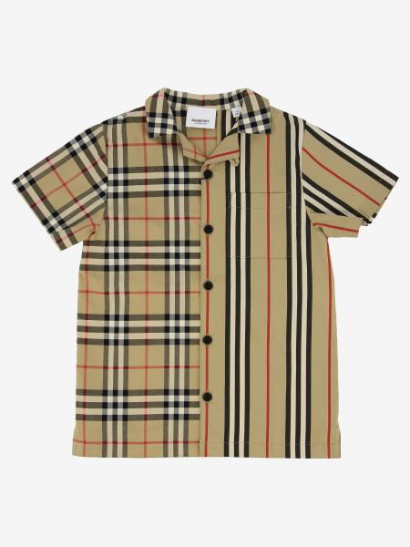 Burberry check shirt with short sleeves