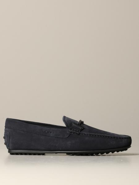 Tod's moccasin in suede with double metal T