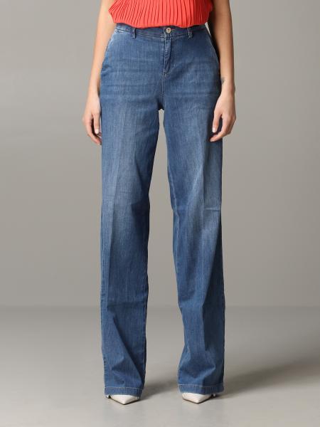 Jeans jean large liu jo Liu Jo - Giglio.com