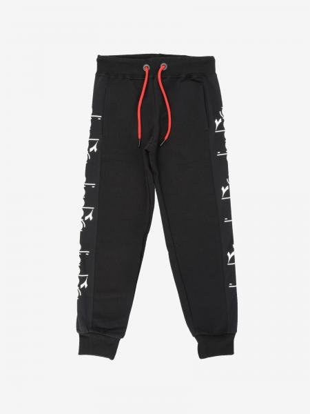 Pantalone jogging Diadora con bande logate
