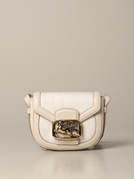 Etro shoulder bag in leather with paisley print