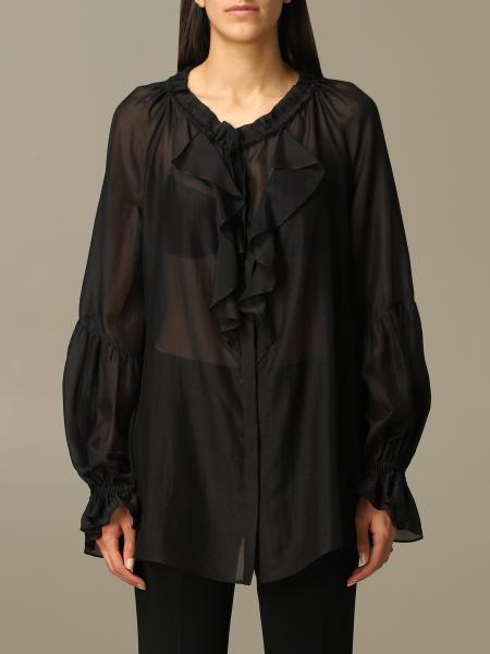Etro 荷叶边装饰衬衫