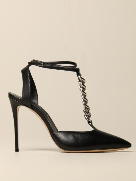 Casadei sandal in leather with metal chain