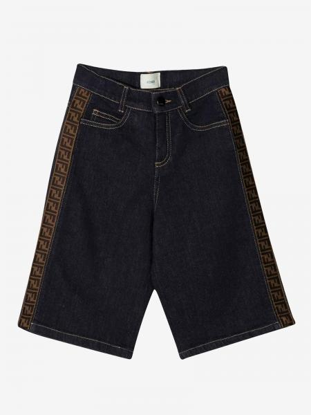 Fendi denim shorts with all-over FF bands