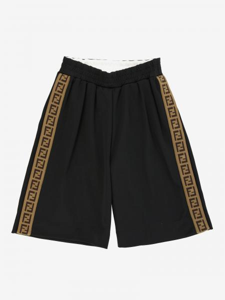 Fendi Jogging Shorts mit FF Streifen all over