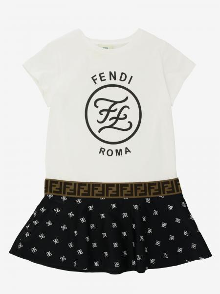 Fendi Kleid mit FF Logo all over