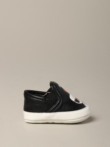 Karl Lagerfeld Kids leather sneakers