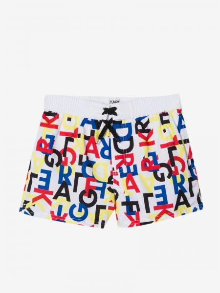Karl Lagerfeld Kids Badehose mit Logo all over