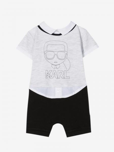 Karl Lagerfeld Kids romper with collar