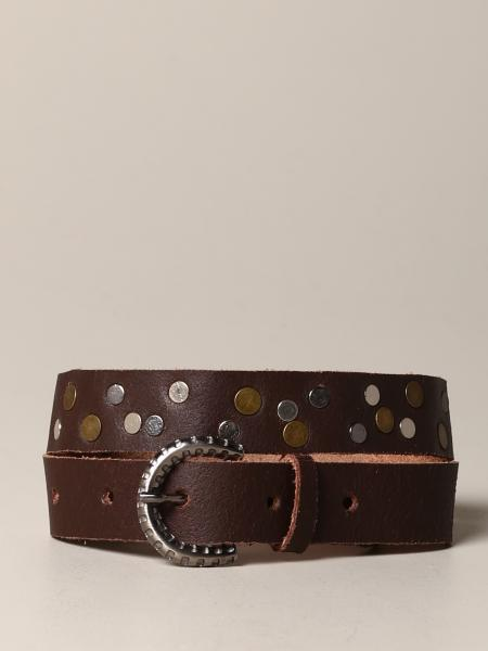 Nupkeet leather belt with studs