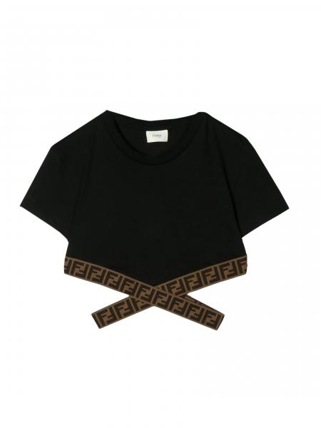 Fendi Cropped Pullover mit FF all over