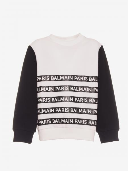 Balmain sweatshirt with logoed bands