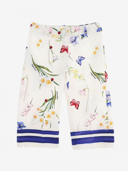 Pantalon Monnalisa avec imprimé papillons