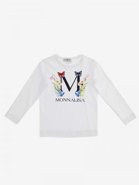 T-shirt Monnalisa con stampa logo