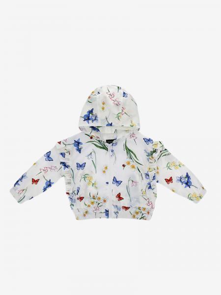 Giacca Monnalisa con cappuccio e stampa di farfalle