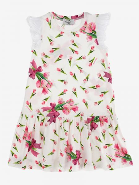 Monnalisa 花卉印花连衣裙