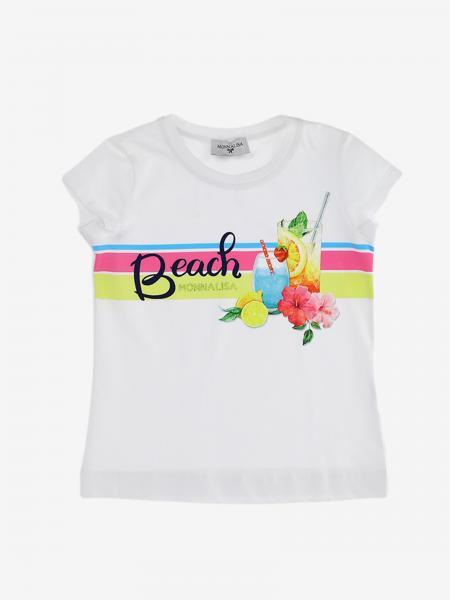 T-shirt Monnalisa con stampa Beach