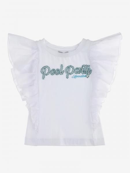 T-shirt Monnalisa con scritta di strass