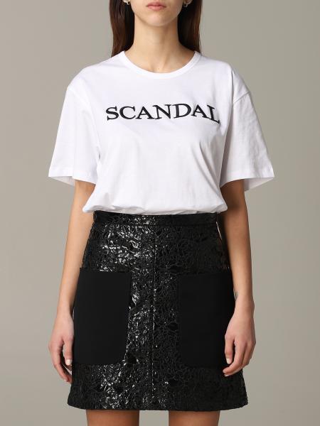 T-shirt N° 21 a maniche corte con scritta scandal