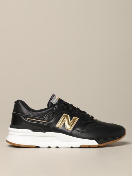New Balance sneakers in smooth and laminated leather