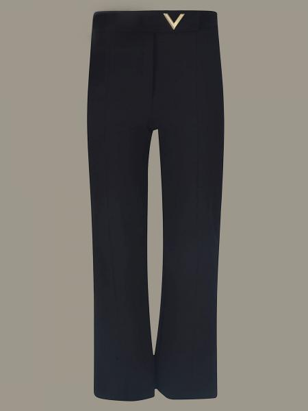 Valentino wide trousers with metallic logo