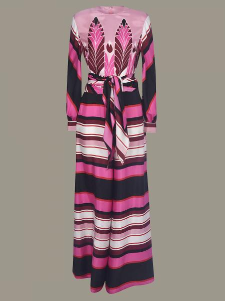 Valentino striped suit with belt