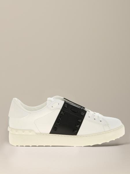 Open Valentino Garavani leather sneakers with band