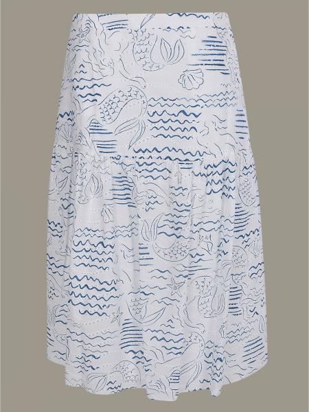 Kenzo 美人鱼印花半身裙