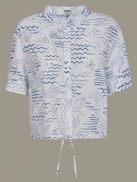 Kenzo 美人鱼印花衬衫