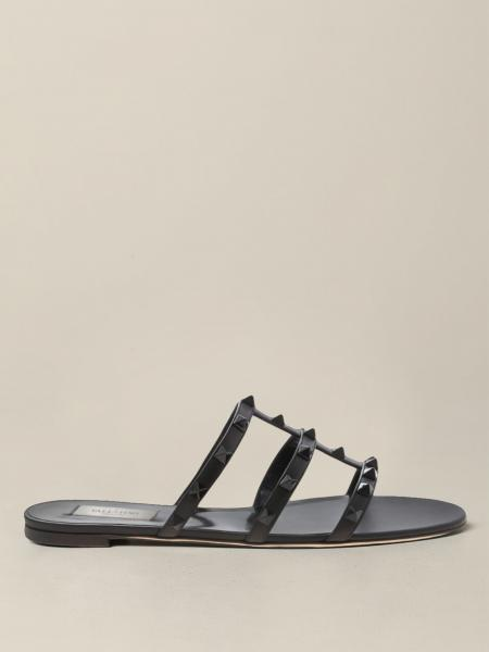 Valentino Garavani leather sandal with studs