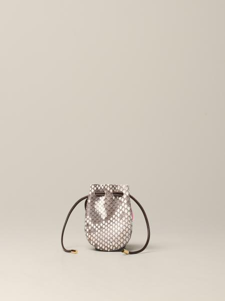 Tubici Micro Mykonos Bag in python print leather