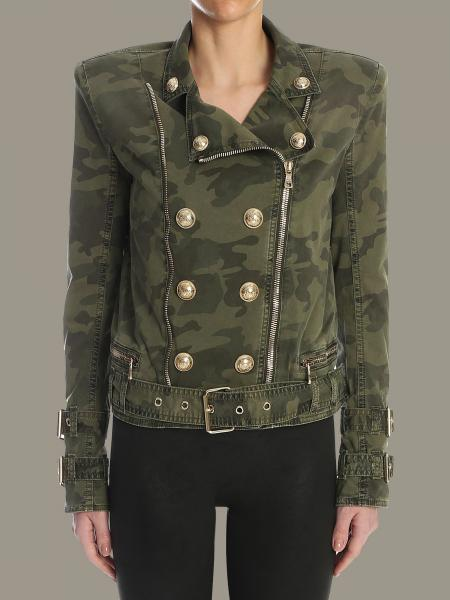 Balmain camouflage jacket with zip
