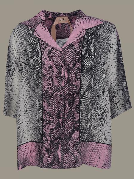 Camicia N°21 con stampa pitone