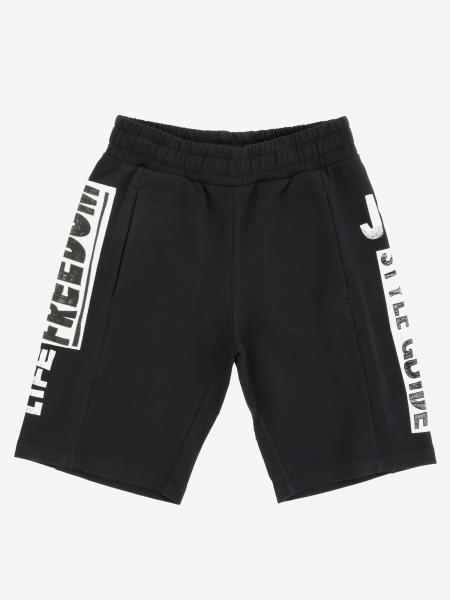 Short de jogging Jeremy Scott avec bandes logo