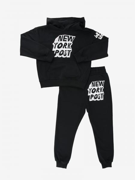 Jeremy Scott sweatshirt + pants set with New York Post print