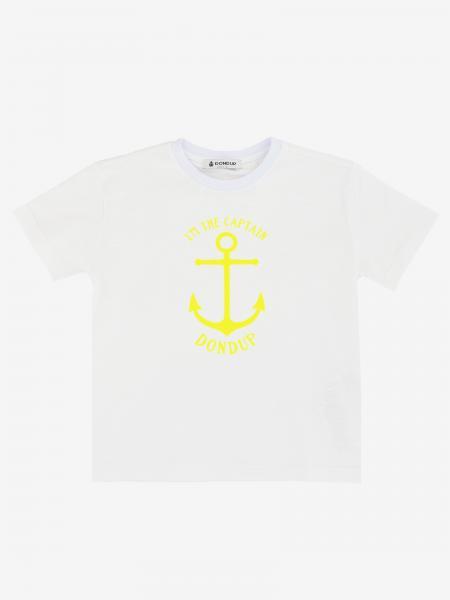 T-shirt Dondup con ancora e logo
