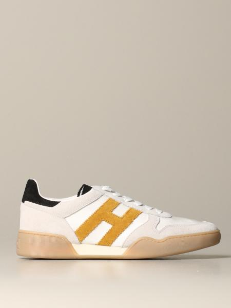 Hogan sneakers in suede and leather