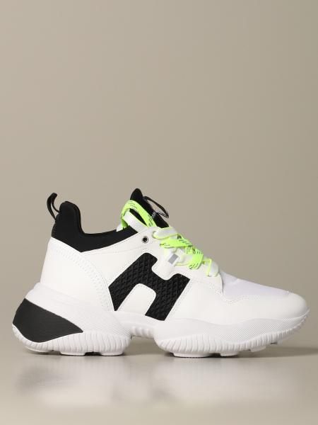 Hogan sneakers in leather and neoprene with H in macro mesh