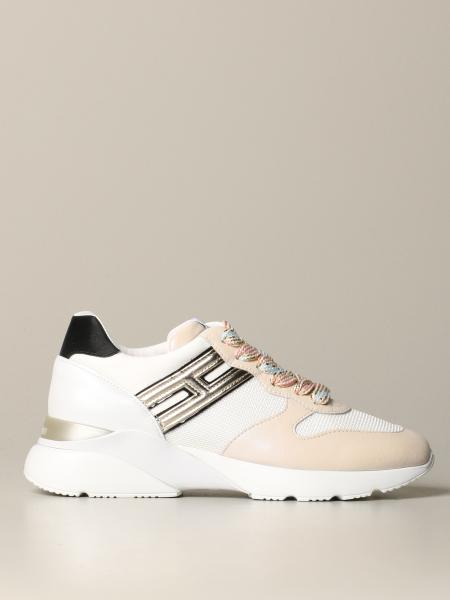 Hogan sneakers in leather and micro mesh