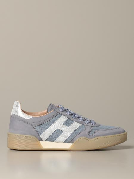 Hogan sneakers in suede and canvas