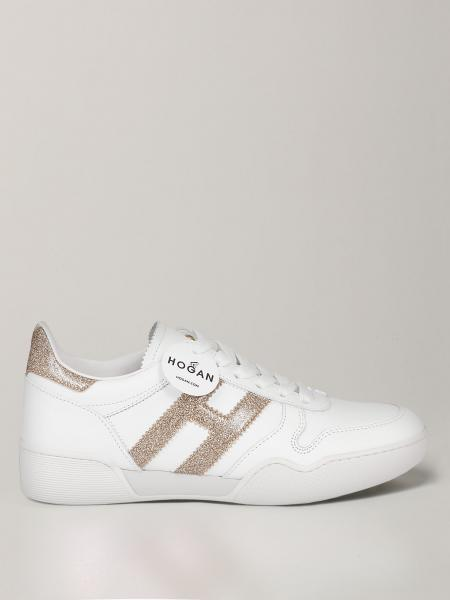 Hogan sneakers in leather with glitter H