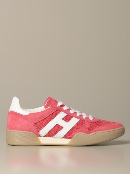 Hogan sneakers in suede and micro mesh