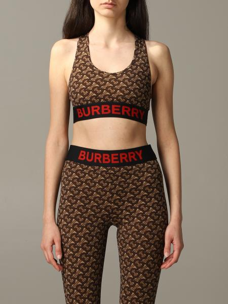 Top Burberry con stampa tb all over