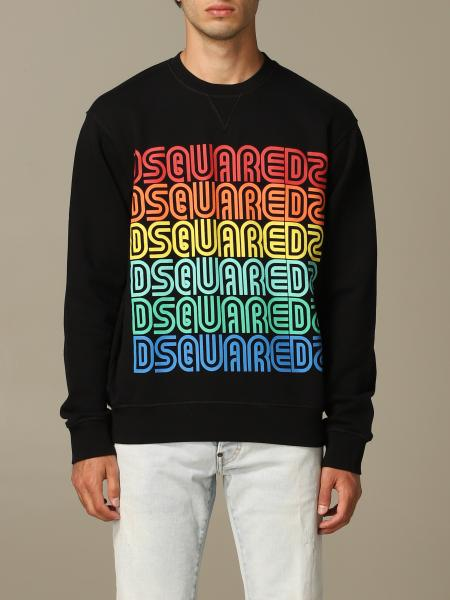 Felpa Dsquared2 a girocollo con logo multicolor