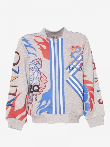 Kenzo Junior sweatshirt with all over Tiger Kenzo Paris print