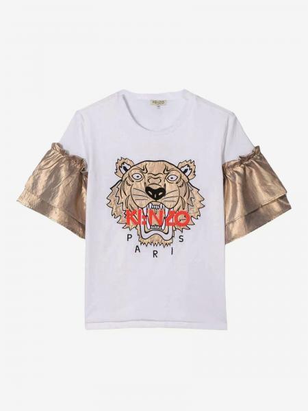 T-shirt Kenzo Junior con logo Tiger Kenzo Paris